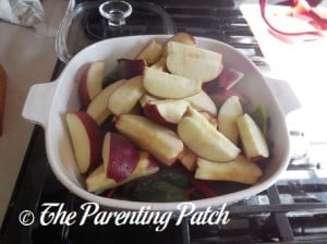 Chopped Raw Apple Slices