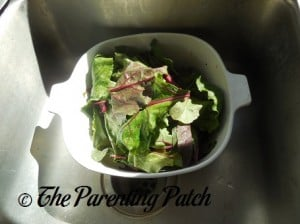 Washing and Shredding the Beet Greens