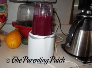 Mashing the Apples, Beets, and Beet Greens