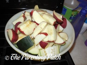 Raw Apple and Zucchini Slices