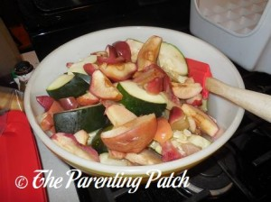 Cooked Apple and Zucchini Slices