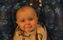 10-Month-Old Baby Reacts to Emotional Song Like an Adult