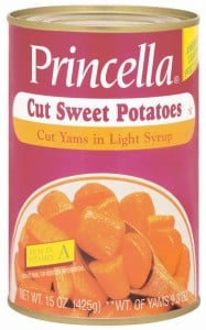Princella Cut Sweet Potatoes