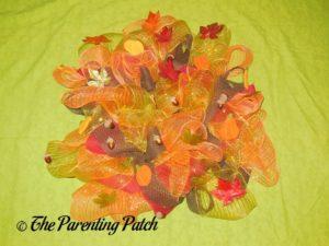 Deco Mesh and Ribbon Autumn Wreath Craft