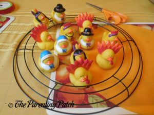 Thanksgiving Ducks and Wire Wreath
