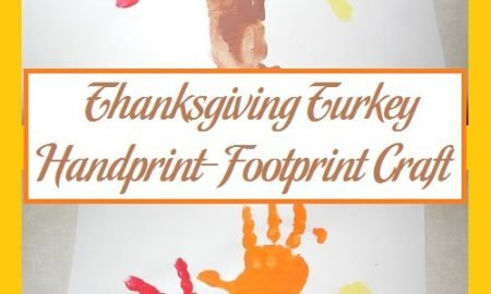 Thanksgiving Turkey Handprint-Footprint Craft