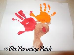 Adding an Orange Handprint