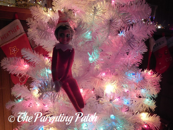 The Elf in the White Christmas Tree