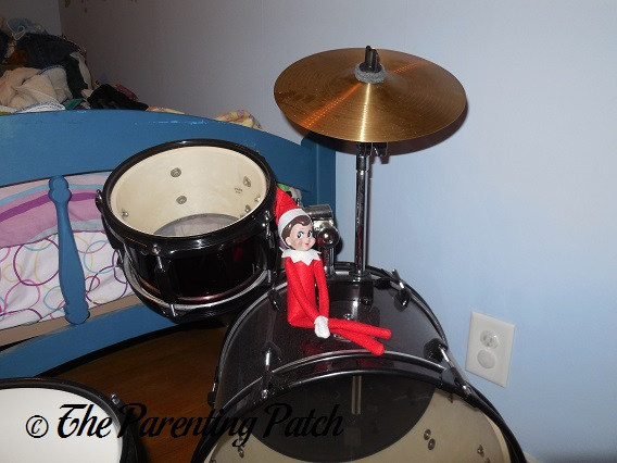 The Elf on the Drum Set