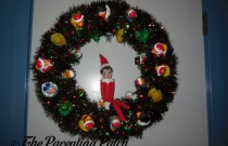 The Elf on the Christmas Duck-oration Wreath: The Elf on the Shelf Day 16
