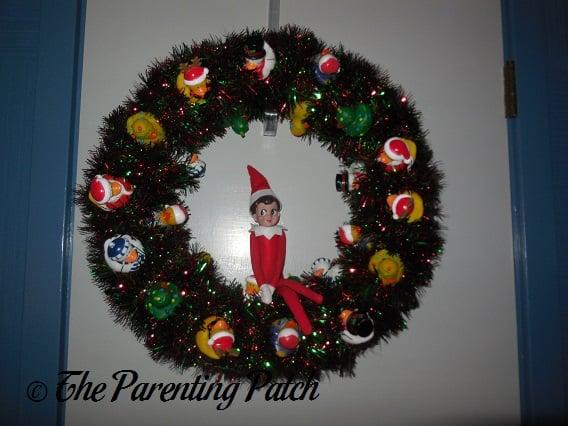 The Elf on the Christmas Duck-oration Wreath