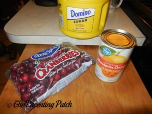 Ingredients for the Cranberry Relish