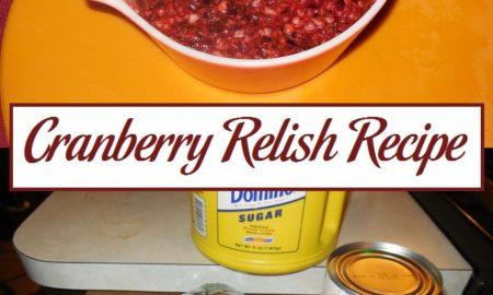 Cranberry Relish Recipe