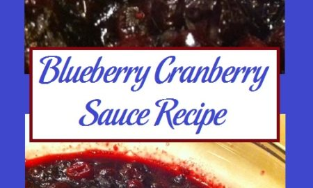 Blueberry Cranberry Sauce Recipe