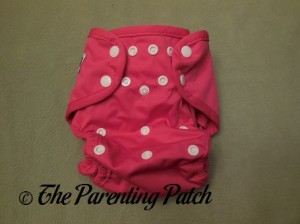 Front of the Raspberry Imagine One Size All-In-Two Cloth Diaper