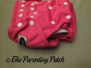 Side of Raspberry Imagine One Size All-In-Two Cloth Diaper with Insert