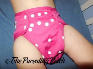 Front of the Raspberry Imagine One Size All-In-Two Cloth Diaper on a Toddler