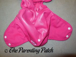 Inside Snap of the Raspberry Imagine One Size All-In-Two Cloth Diaper