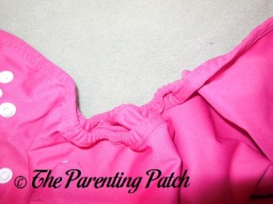 Double Leg Gussets of the Raspberry Imagine One Size All-In-Two Cloth Diaper