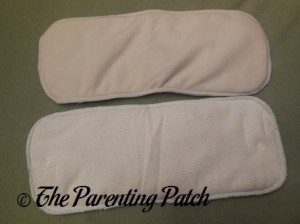 Front and Back of the Raspberry Imagine One Size All-In-Two Cloth Diaper Inserts