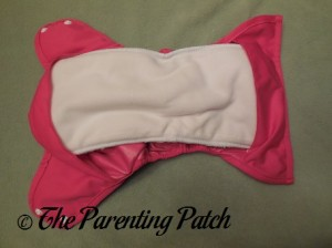 Insert Snapped in the Raspberry Imagine One Size All-In-Two Cloth Diaper