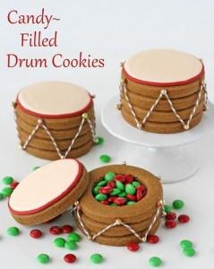 Christmas Drum Cookies