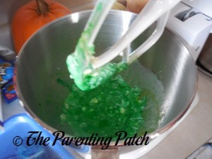 Blending the Butter and Food Coloring