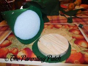 Attaching the Base to the Felt Toddler Christmas Tree