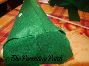 Sewing the Base on the Felt Toddler Christmas Tree