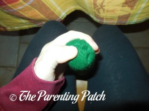 Folding the Top of the Felt Toddler Christmas Tree
