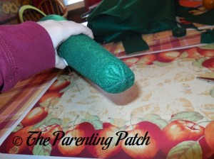 Sewing the Top of the Felt Toddler Christmas Tree