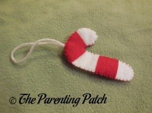 Candy Cane Felt Toddler Christmas Tree Ornament