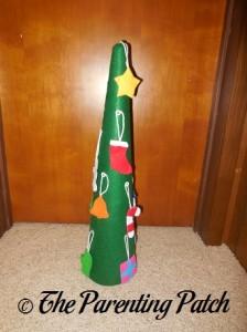 Finished Felt Toddler Christmas Tree 2