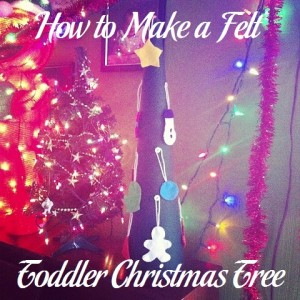 How to Make a Felt Toddler Christmas Tree