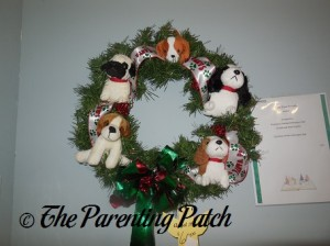 Puppy Dog Christmas Wreath