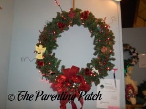 Simple Red Christmas Wreath