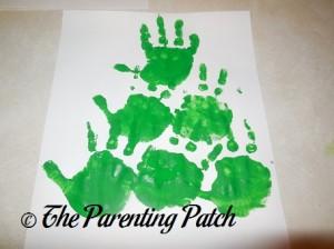 Third Row of Green Handprints