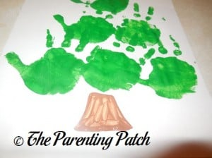 Painting the Brown Tree Trunk