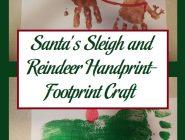 Santa's Sleigh and Reindeer Handprint-Footprint Craft