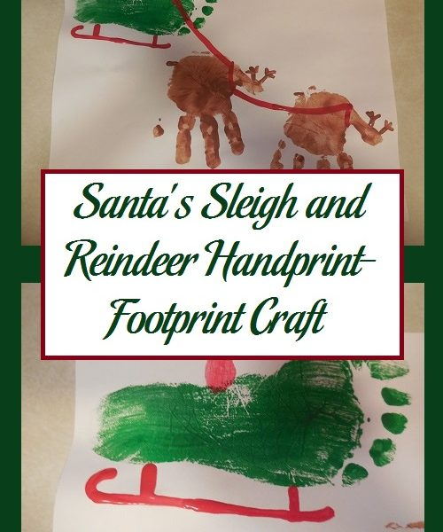 Santa's Sleigh and Reindeer Handprint-Footprint Craft ...