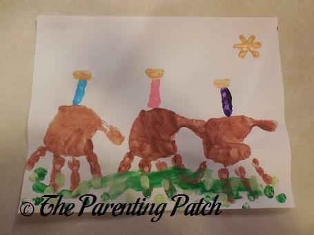 Three wise men handprint fingerprint craft parenting patch for Three wise men craft