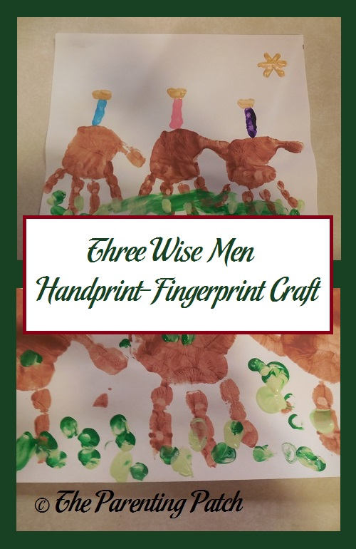 Three Wise Men Handprint-Fingerprint Craft
