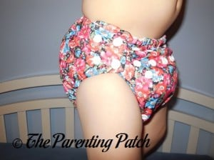 Side View of The Little Bee Co. Pocket Diaper