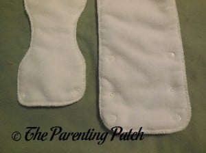 Snaps on the Inserts of The Little Bee Co. Pocket Diaper