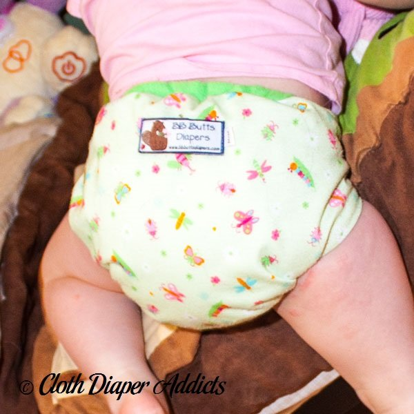 Green Butterfly BB Butts Diapers Cloth Diaper 5