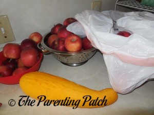 Apples and Yellow Squash