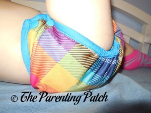Side of Preppy Rumparooz One-Size Cloth Diaper Cover at 30 Pounds 1