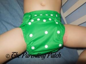 Front of the Imagine Diaper Cover on Preschooler 1