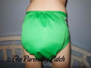 Back of the Imagine Diaper Cover on Preschooler 2