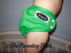 Side of the Imagine Diaper Cover on Preschooler 2